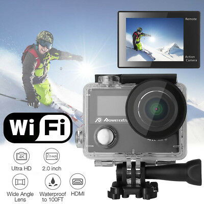 4K 12MP WiFi Waterproof Sport Action Camera Double LCD Ultra HD DV Camcorder