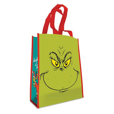 Dr. Seuss The Grinch Face Small Recycled Tote Bag Who Stole Naughty Shopper