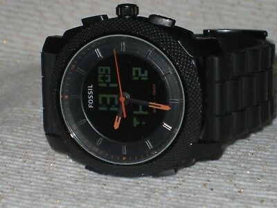 e7d34d1741c Fossil Machine Analog   Digital Dial Black Silicone Men s Watch FS-4628