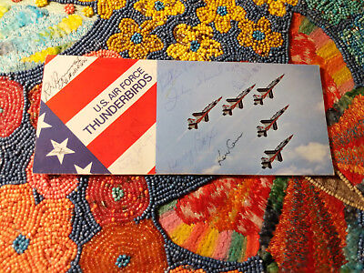 Signed Autographed Vintage US Air Force Thunderbirds Collectible Brochure