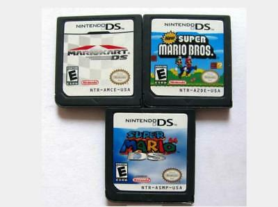 Mario Kart DS+Super Mario 64 DS+New Super Mario Bros Game for Nintendo NDSI,nds