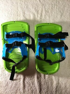 NEW Ideal Sno-Stompers Kids Dinosaur Print Snow Shoes Stompers Sand Tracks NWT