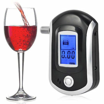 Digital LCD Police Breathalyzer Breath Test Alcohol Tester Analyzer Detector AU