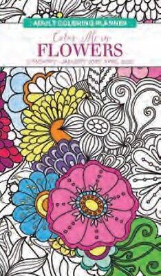 Paper Craft 2019 - 2020 Adult Coloring Pocket Planner - Flowers