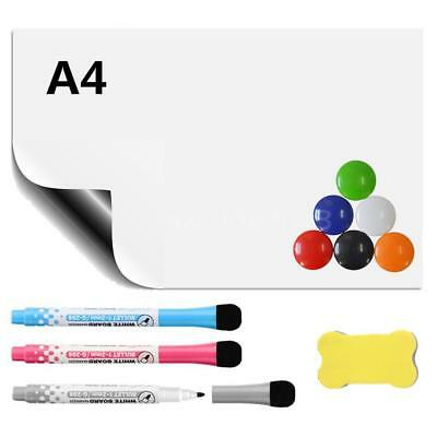 A4 Flexible Fridge Magnetic Whiteboard Memo Reminder Board Pen Eraser Dry Erase