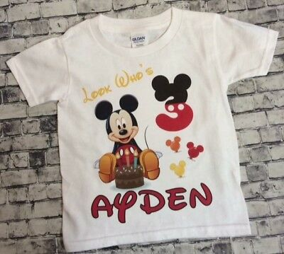 1 Personalized Mickey Mouse Birthday T Shirt Name Boy