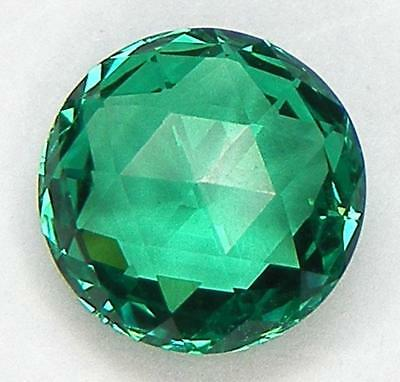 0.90Ct. Excellent Double Rose Cut 6.2 Mm. Lab Created Nanocrystal Emerald
