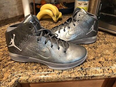 huge discount 603df b11f3 MEN'S AIR JORDAN 31 Promo Sample Shoes Silver Grey 17 Jordan XXX1 Sample  Shoes