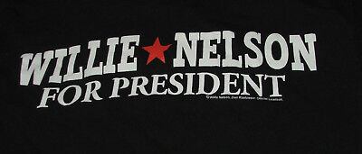 Willie Nelson for President T Shirt S Outlaw Country