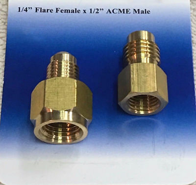 R134 to R12 & R12 to R134a Brass Heavy Duty Tank Vacuum Pump Adapter Connectors
