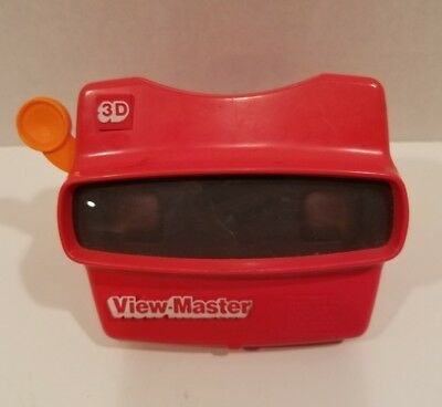 Viewmaster 3D Viewer Red with Orange Lever Made in USA