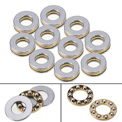 10pcs Axial Thrust Ball Bearings 8mm x 16mm x 5mm F8-16M Stainless Steel HQ
