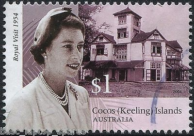 2004 Coco's (Keeling) Royal Visit 1954 - $1.00 QE II Clunies Ross House Used