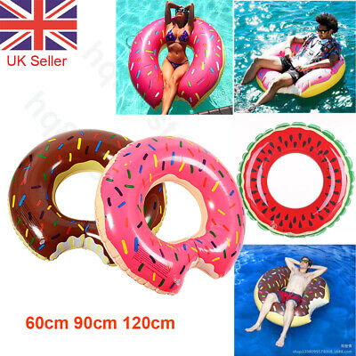 Inflatable Donut Swim Ring Tube Pool Float Lounger Beach Swimming Toy Lilo