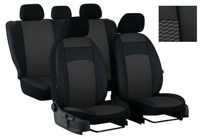 EcoLeather + Fabric Tailored Full Set Seat Covers Ford Focus Mk1, Mk2 up to 2011