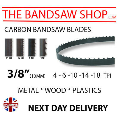 """3/8"""" (10mm) Carbon Bandsaw blades made to any length"""