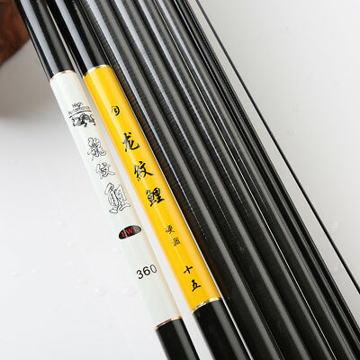 New 2.4m-7.2m Carbon Stream Hand Pole Telescopic Spinning Freshwater Fishing Rod