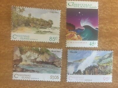 Vintage Christmas Island Postage Stamps x 4- 1993-$3.30 face value