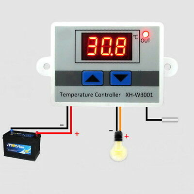 Digital LED Thermometer Temperature Controller Thermostat Incubator Control