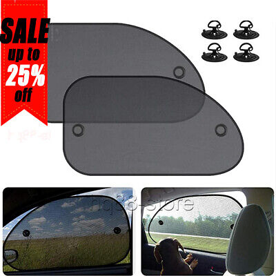 5PCS Car Window Sun Shade Screen UV Visor Protector Sunshade Rear Blind Back