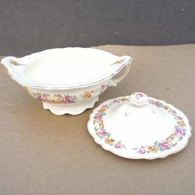 Edwin M. Knowles China Covered Vegetable Casserole Serving Dish with Lid