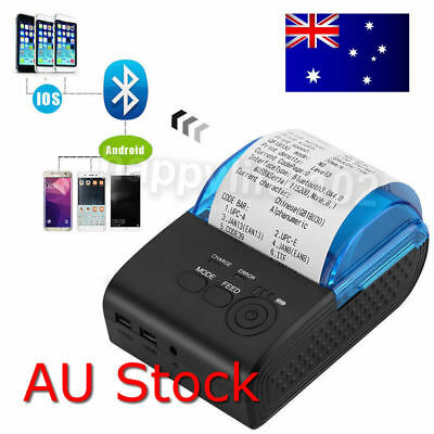 Portable Bluetooth 4.0 Wireless Receipt Thermal Printer 58mm For Android PC