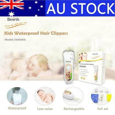 Waterproof Ultra-Quiet USB Rechargeable Pro Haircuts Hair Clipper For Baby Kids