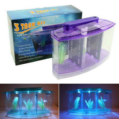 Mini Small Fish Tank Aquarium Durable With Grass Acrylic Plastic For Home Office