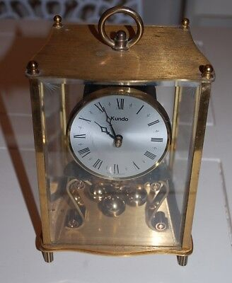"DI / ANCIENNE HORLOGE PENDULETTE MECANIQUE "" KUNDO "" made in GERMANY VINTAGE"