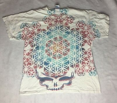 Steal Your Face Sacred Geometry Shirt - Size Large - Grateful Dead