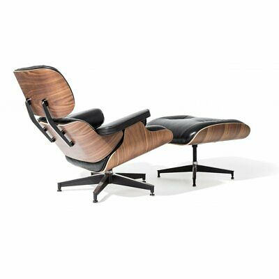 Fantastic Classic Eames Style Lounge Chair And Ottoman Walnut Plywood Squirreltailoven Fun Painted Chair Ideas Images Squirreltailovenorg