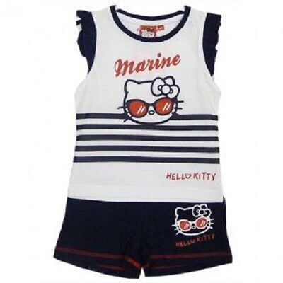 Hello Kitty Sparkly Marine Top and Shorts Set, Age 2-8