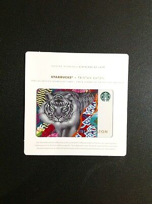 2018 Canada Starbucks Tristan Eaton Tiger Gift Card  --- New