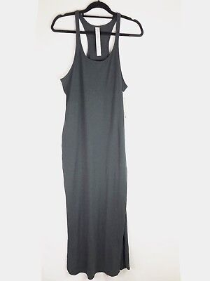 9124807c6ec Lululemon Refresh Maxi Dress II Size 10 Heathered Black Sleeveless Stretch  Women