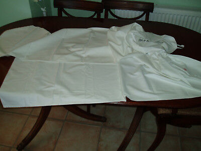 "2 Vintage Cotton Bolster Cover / Pillow Case's 57"" X 18"" & 50"" X 18"""