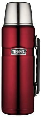 Thermos Stainless King 40-Ounce Beverage Bottle, Cranberry, New