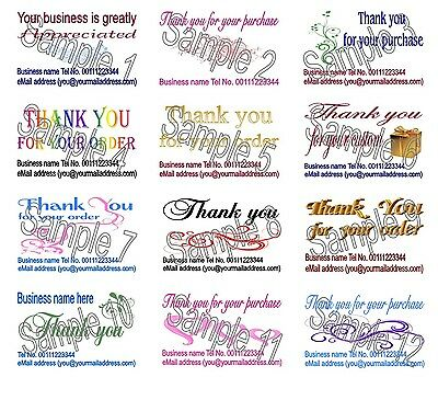 Thank You Cards With Your Business Details 50 Personalised Printing