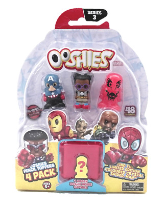 Ooshies Marvel Figures Pencil Toppers 4 Pack - Series 3 Set 2
