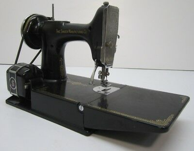 VTG 40 SINGER Featherweight 40 Scroll Portable Motorized Sewing Mesmerizing 1935 Singer Sewing Machine