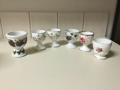 2 Royal Chelsea Single Egg Cups --- Lily