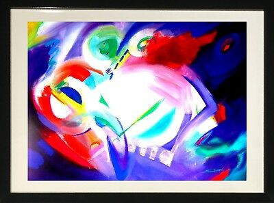 Abstract by Alfred Gockel (Framed Fine Art Lithograph)