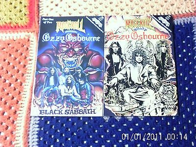 Rock N Roll  Comics Ozzy Osbourne Part One & Part Two Extra Items