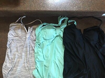 Lot of 3 Maternity Swimsuit Tops.