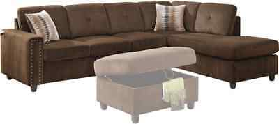 Prime Beige Color Vogue Reversible Sectional Sofa Modern Acme Bralicious Painted Fabric Chair Ideas Braliciousco