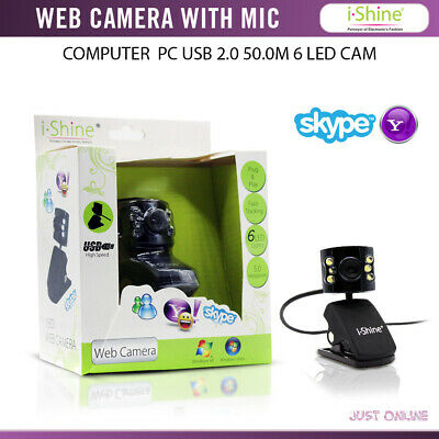 Computer PC USB 2.0 50.0M 6LED PC Camera HD Webcam Camera Web Cam with MIC