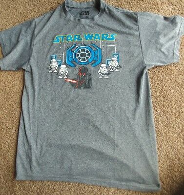 0075775ab Star Wars Graphic Tee XL Boys T-shirt Charcoal Gray EUC barely worn heather  gray