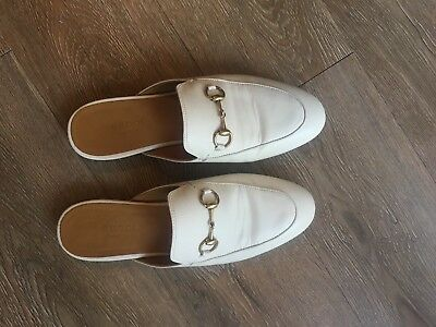 dd0bfe407bf2 GUCCI PRINCETOWN MULES 38 White -  500.00