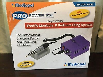 Medicool Pro Power 30K Electric Professional Manicure Nail Filing Drill System