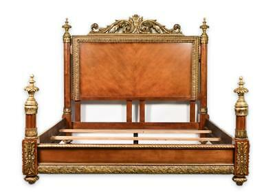 French Neoclassical Style King Bed - Rare and Unique