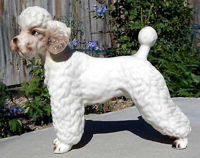 "Vintage Lefton  Large  5"" White Poodle Dog  Figurine H6659"